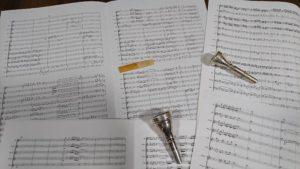 作曲した楽譜たち